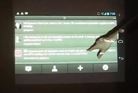 Ecco Android controllato tramite Kinect