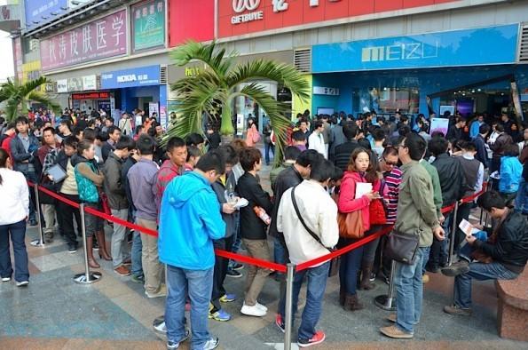 Meizu MX : lunghe code in Cina...