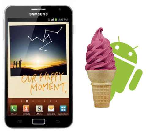 Samsung Galaxy Note: ROM con Android 4.0.3 Ice Cream Sandwich