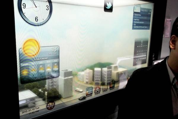 CES 2012 : Samsung mostra gli LCD trasparenti