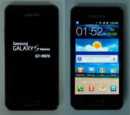 Samsung Galaxy S Advance: nuovo stile e nuovo hardware