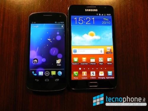 Galaxy Nexus vs Galaxy Note: una serie di test per scegliere