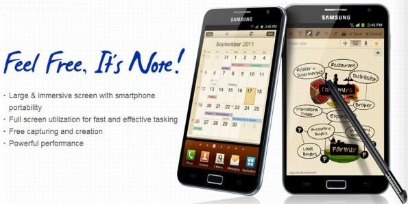 Nuovo aggiornamento per il Galaxy Note