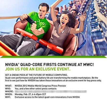 NVIDIA pronta a mostrare novità quad-core al MWC 2012!