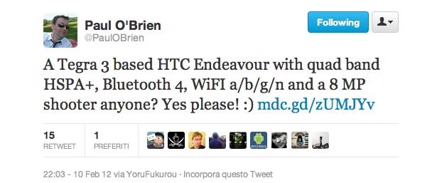 HTC Endeavour, nuovo top gamma quad-core per la casa taiwanese