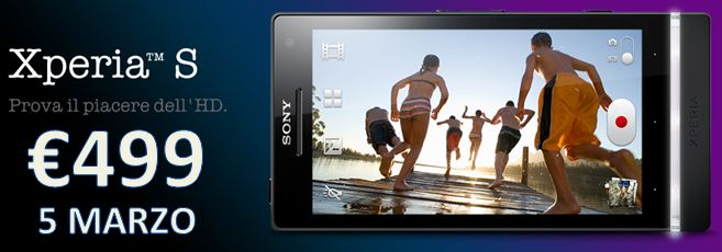 Sony Xperia S nel listino MediaWorld a 499€