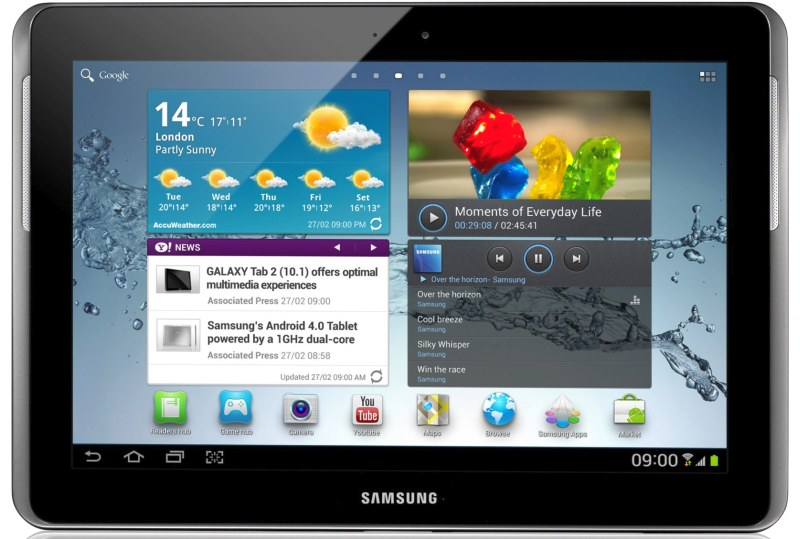 Samsung Galaxy Tab 2 con display da 10.1 pollici a 399$