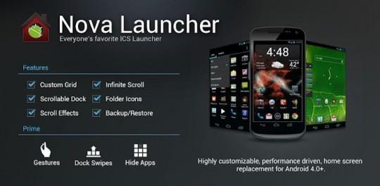 Nova Launcher disponibile in Android Market