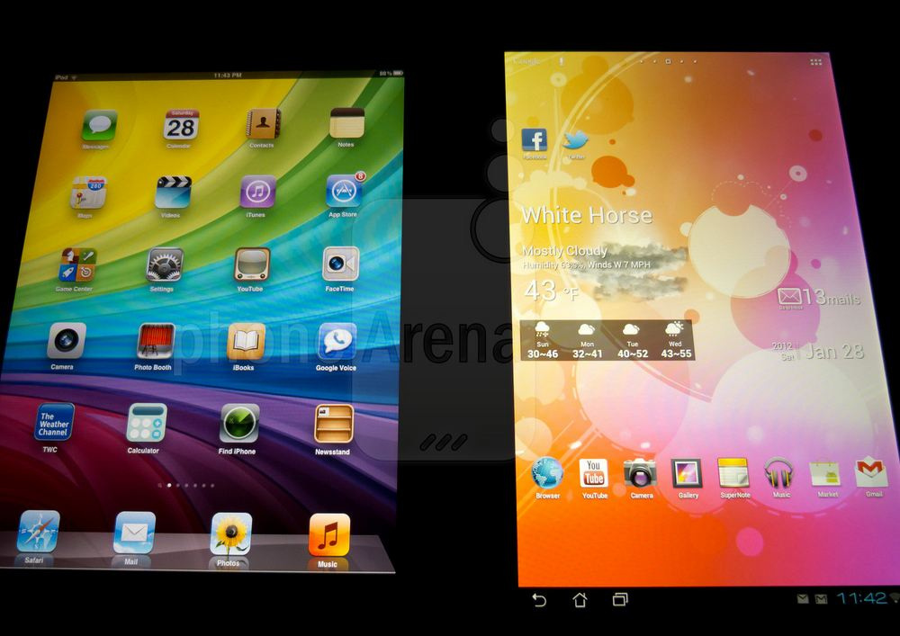 Sfida tablet: ASUS Transformer Prime vs iPad 2