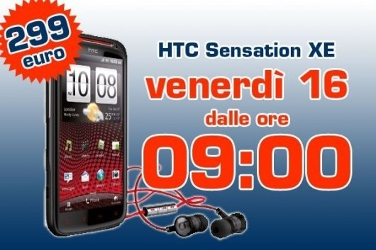 HTC Sensation XE in offerta a 299€ da Unieuro
