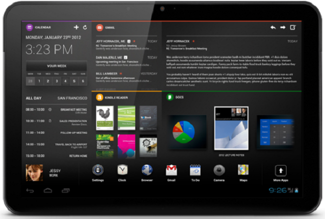 Chameleon: nuova interessante UI per tablet Android