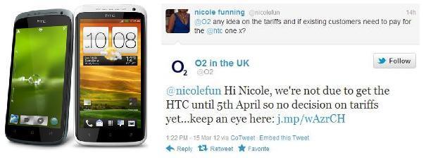HTC One X e One S disponibile dal 5 Aprile tramite l'operatore O2 in UK