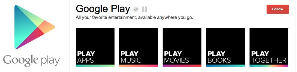 Google Play è anche su G+