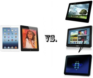 iPad 3 Vs Asus Transformer Pad Infinity Vs Samsung Galaxy Note 10.1 Vs Toshiba Excite X10 LE