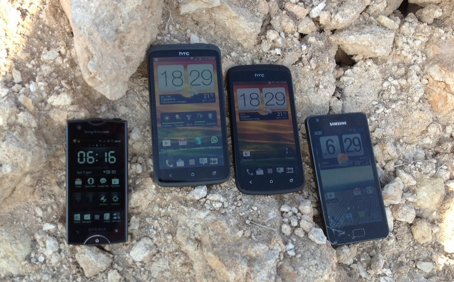 HTC One X vs HTC One S vs Sony Xperia Ray vs Samsung Galaxy S II: confronto display