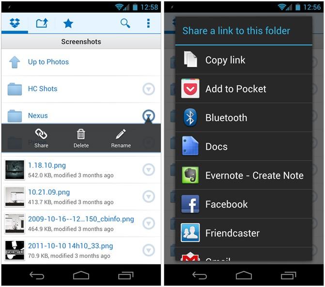 Con Dropbox ora puoi condividere pubblicamente le tue cartelle, anche dall'applicazione su Android!