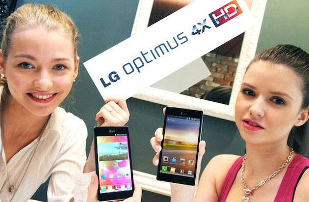 Prima foto della versione bianca dell'LG Optimus 4X HD