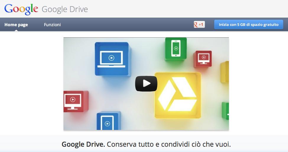 Google lancia Drive, il nuovo servizio cloud [UPDATE]