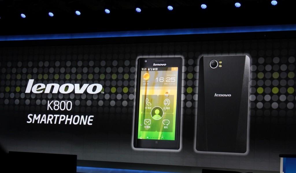 Lenovo k800 in arrivo a Maggio sul mercato cinese