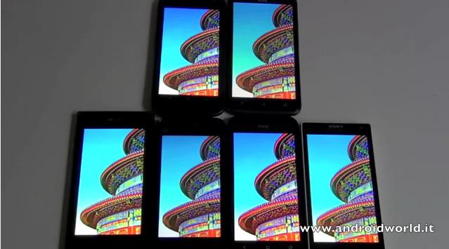 HTC One X vs One S vs LG Prada 3.0 vs Sony Xperia S vs Samsung Galaxy Nexus vs MIUI Phone: ricco video confronto