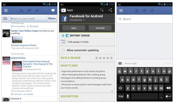 Facebook per Android si aggiorna alla versione 1.9!