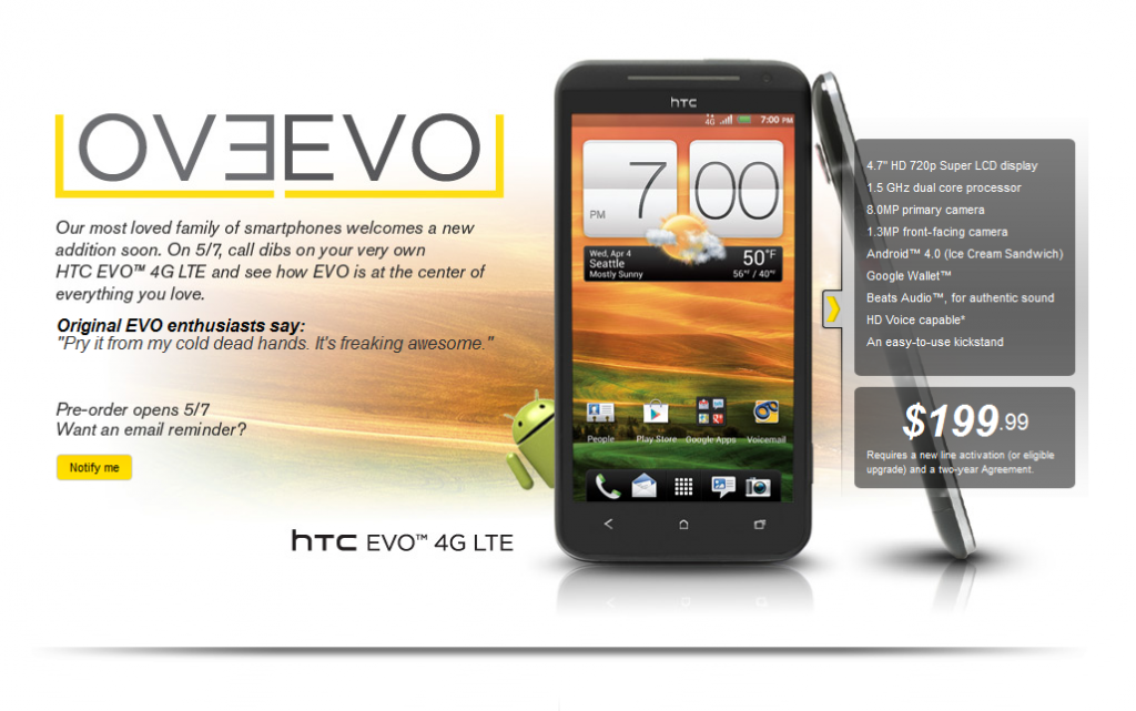 Presentazione ufficiale di HTC EVO 4G LTE [Video Hands on]