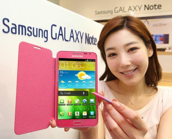 Oggi debutta in corea del sud il Samsung Galaxy Note rosa