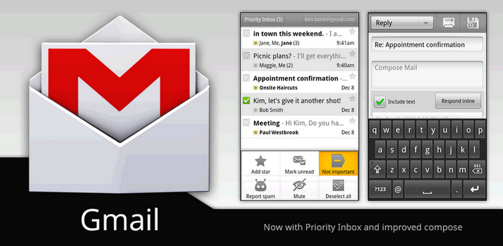 Gmail si aggiorna: migliorie per Froyo, Gingerbread e Honeycomb