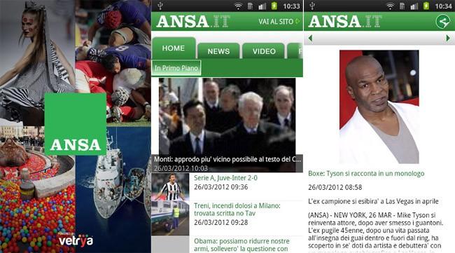 ANSA, l'applicazione ufficiale disponibile su Google Play