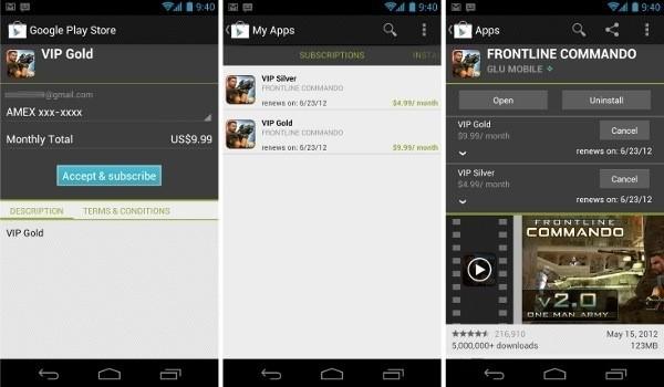 Google permette di creare abbonamenti a pagamento tramite il market Play