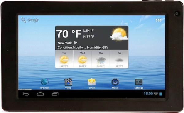 E Fun lancia Next 7S, un tablet Ice Cream Sandwich da 130 dollari