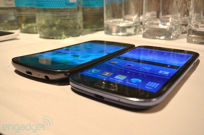 Confronto al microscopio fra il display del Galaxy S III e altri dispositivi