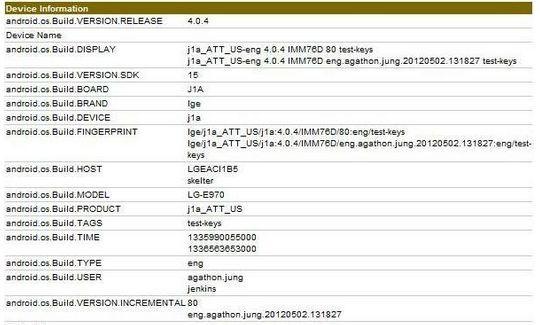 Arriva LG E-970: Snapdragon S4 quad-core e GPU Adreno 320