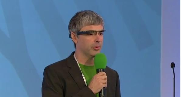 Zeitgeist 2012: Larry Page con i Google Glasses