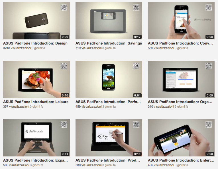 11 video introduttivi per Asus PadFone