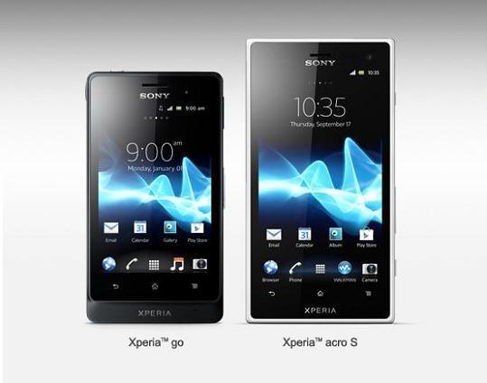 Sony Xperia Go, Xperia Acro S ed Xperia Ion: la gamma Xperia si allarga