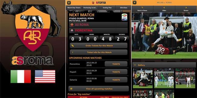 AS Roma Mobile, l'applicazione ufficiale della Roma arriva su Android