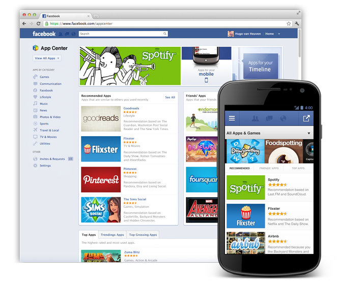 Facebook annuncia App Center