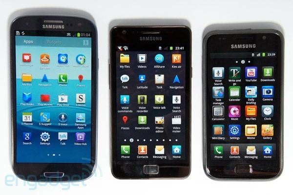 Ecco la famiglia Samsung Galaxy: Galaxy S, Galaxy S II, Galaxy S III