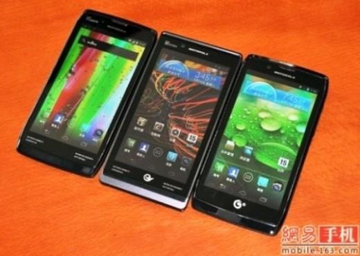 Motorola prepara 3 nuovi Razr con Android 4.0.4 per il mercato cinese