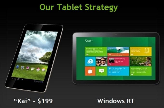 NVidia presenta Kai ed apre il mondo dei tablets Tegra 3 da 199$