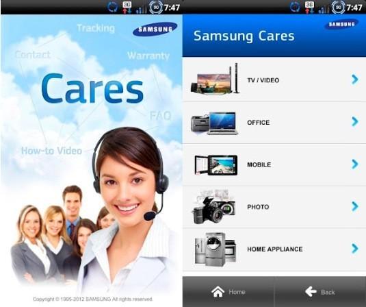 Samsung lancia la sua applicazione per l'assistenza sul Play Store