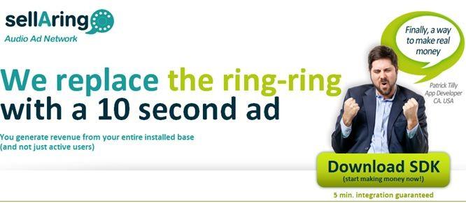 SellARing: pubblicità in chiamata per i primi 10 secondi di connessione