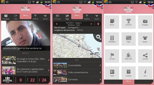 Giro d'Italia, l'applicazione ufficiale arriva su Android