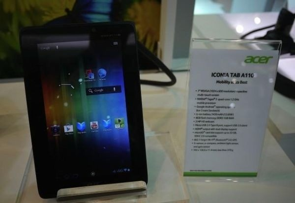 Acer Iconia Tab A110: primo tablet Android con chip Nvidia Kai