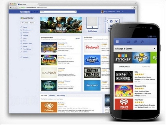 Facebook lancia ufficialmente App Center: app e giochi anche su Android