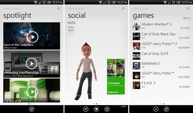 Microsoft rilascia My Xbox LIVE su Android
