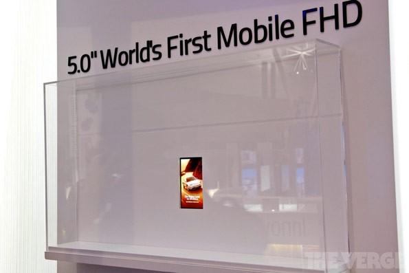 LG presenta il primo display da 5 pollici con risoluzione Full HD