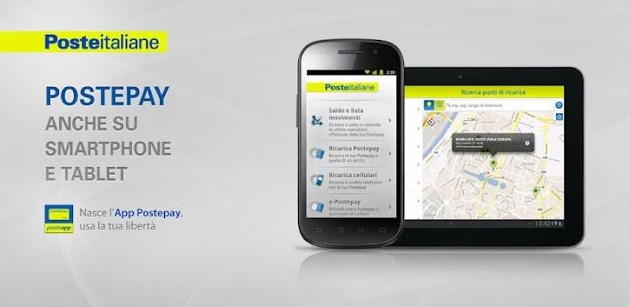 Postepay, l'applicazione ufficiale di Poste Italiane disponibile su Play Store