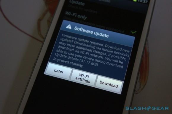 Primo aggiornamento OTA per il Galaxy S III in arrivo